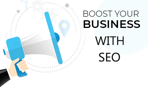 """Loud Speaker With The Words """"Boost Your Business With SEO"""""""
